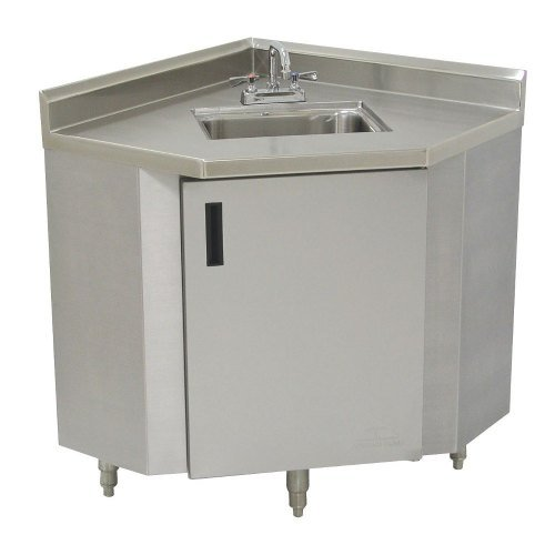 Advance Tabco SHK-2441 Stainless Steel Corner Sink Cabinet - 24