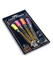 Universal BLSMA100V4TR - American Metalcraft Securit All-Purpose Mini Tip Tropical Marker - 4 / Pack