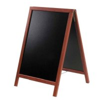 Universal SBDM85 - American Metalcraft Securit A-Frame Sign Board Mahogany Finish