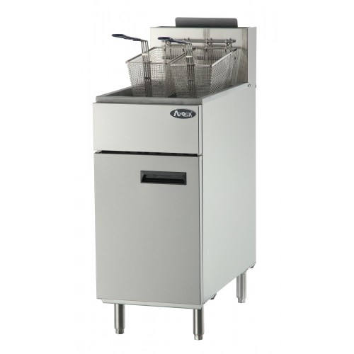 Atosa ATFS-40 - 40 lb. Commercial Stainless Steel Deep Fryer - Natural Gas