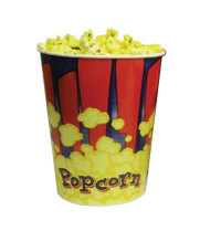 Benchmark USA 41430 - Popcorn Tubs - 130 oz Capacity - Case of 100