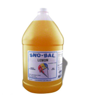 Benchmark USA 72004 - Lemon Snow Cone Syrup - 1 Gal - Case of 4