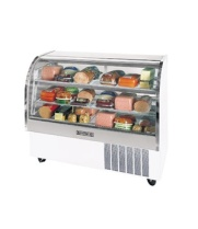 Beverage Air - CDR6/1-W-20 - Curved Glass Refrigerated Deli Display Case 73""
