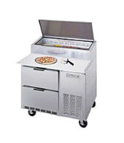 Beverage Air DPD46 - Pizza Prep Table w/ Drawers 46""