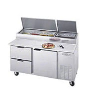 Beverage Air DPD67 - Pizza Prep Table w/ Drawers 67""
