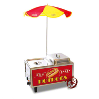 Benchmark USA 60072 - 60 Hot Dog Steamer Mini Cart
