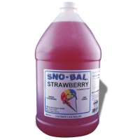 Benchmark USA 72006 - Strawberry Snow Cone Syrup - 1 Gal - Case of 4