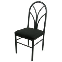Universal 164CDINEBKBK - Black 4 Spoke Restaurant Dining Room Chair