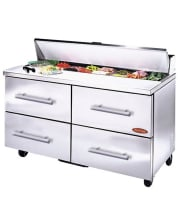 "Universal BM48SC-4 - 48"" Sandwich Prep Table W/ Drawers"
