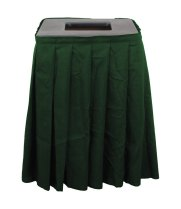 Buffet Enhancements1BCTV20SET - Black Square Topper with Forest Green Skirting for 20 Gallon Trash Cans