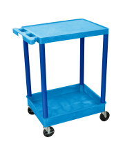 Luxor STC21BU - Plastic 2 Shelf Utility Tub Cart - Blue