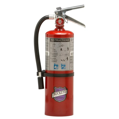 Universal 47211214 - Purple K Dry Chemical BC Fire Extinguisher Buckeye 5 lb. Rechargeable - UL Rating 20-B:C