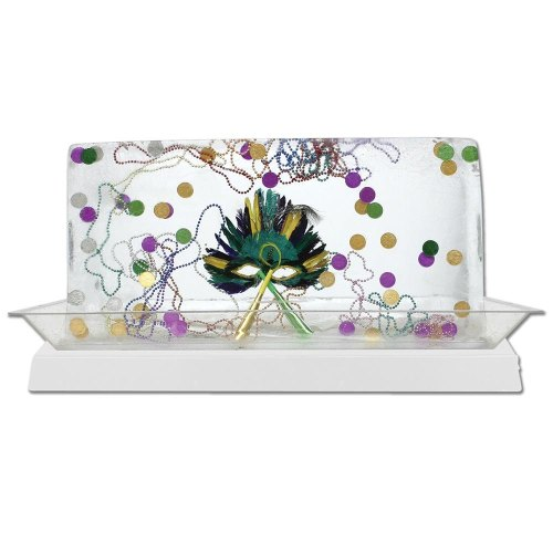 Buffet Enhancements - 010LCS55LED-WT - Large Lighted Ice Display - LED Lights - White Base