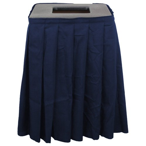 Universal 1561BCTV20NB - Buffet Enhancements 1BCTV20SET Black Square Topper with Navy Skirting for 20 Gallon Trash Cans