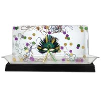 Buffet Enhancements - 010LCS55LED-BK - Large Lighted Ice Display - LED Lights - Black Base