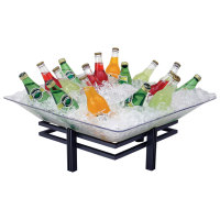 Buffet Enhancements - 1BLRE22SETBK - Small Iron Ice Display - Wrought Iron Base w/ Acrylic Tray - Texture