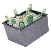 Buffet Enhancements - 1BBCS12BG - Chefstone™ Insulated Beverage Display - Small - Blue Granite