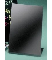 "Universal 950-13 - Cal Mil Black Write On Tabletop Marker Board 5""W x 7""H"