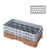 Cambro 17HS434-184 - 17-Compartment Half-Size Stemware & Tumbler Glass Rack - Camrack