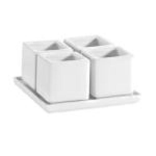 C.A.C. China DT-SQ4 - Gourmet Collection Tray and Bowl Set 5