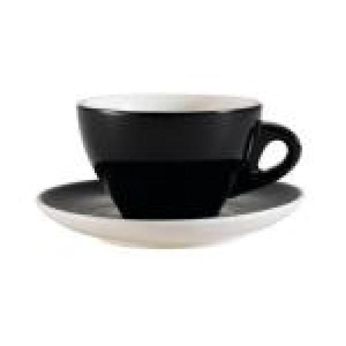 C.A.C. China E-75-BLK - Venice Coffee Cup and Saucer Set 5-7/8