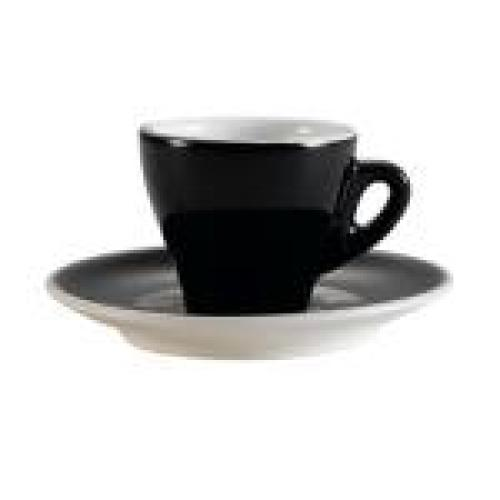 C.A.C. China E-3-BLK - Venice Demitasse Cup and Saucer Set 4-7/8