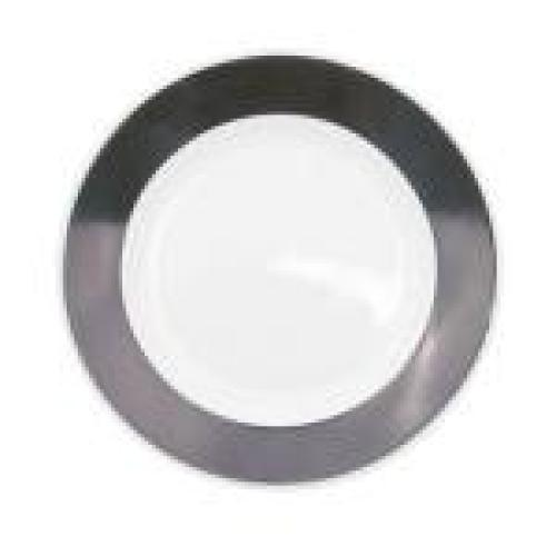 C.A.C. China R-21-BLK - Rainbow Plate 12