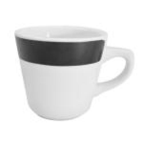 C.A.C. China R-1-BLK - Rainbow Coffee Cup 3-1/4