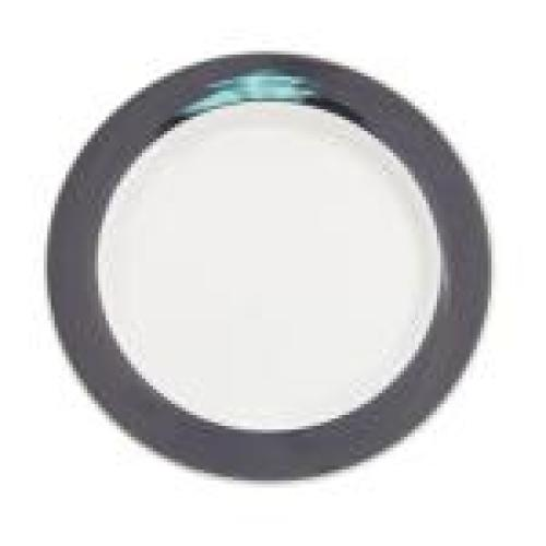 C.A.C. China R-6-BLK - Rainbow Plate 6-1/2