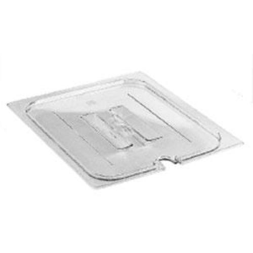Cambro Quarter-Size Food Pan Notched Cover w/ Handle - Camwear (Set of 6) [40CWCHN-135]