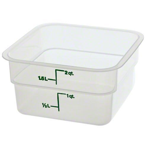Cambro 2SFSPP 190 2 qt Polypropylene Food Storage Container