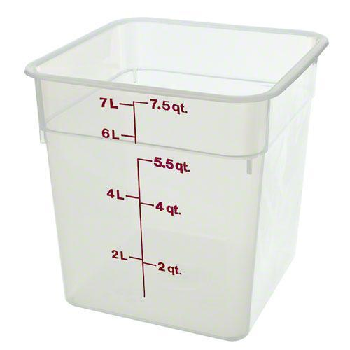Cambro 8SFSPP 190 8 qt Polypropylene Food Storage Container