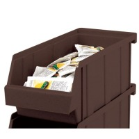 Cambro Dark Brown Versa Organizer Bin (Set of 12) [5412CBP-131]
