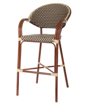 G & A Seating 915 - Aluminum Bamboo Bar Stool (12 per Case)