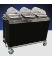 Cadco - CBCHHH - Stainless Steel Mobile Hot Buffet Cart