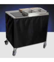 Cadco - CBCSDC - Stainless Steel Mobile Sampling / Demo Buffet Cart