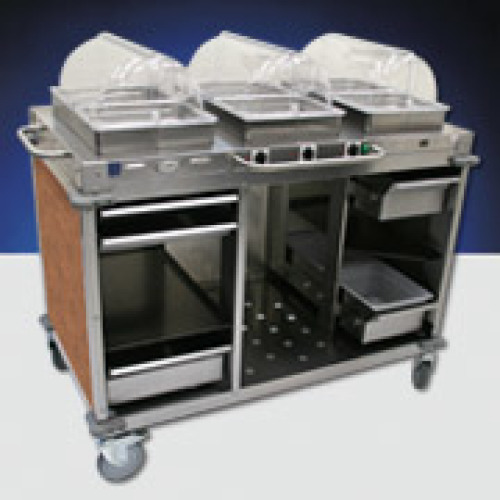 Cadco - CBCHHHL1 - Mobile Hot Buffet Cart w/