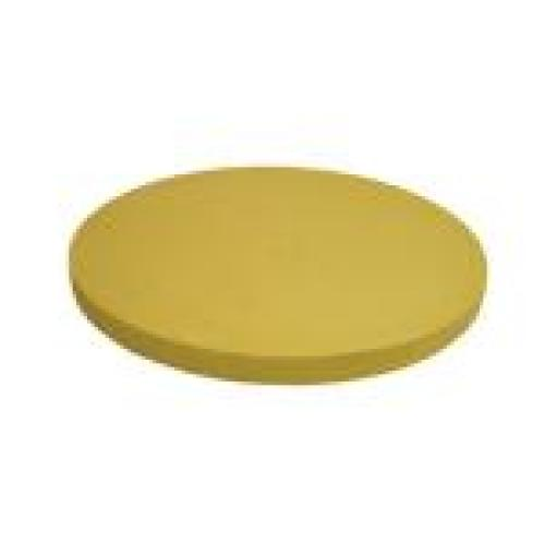 Update International CBR-16RH - Round Synthetic Rubber - Cutting Board - 1