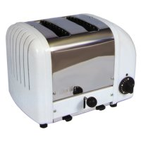 Cadco - CBT2 - White Stainless Steel Bagel Toaster - 2 Slots