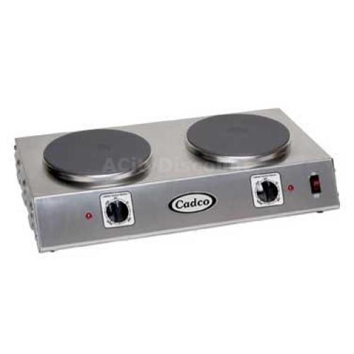 Cadco - CDR2C - Double Cast Iron Hot Plate - 7.5