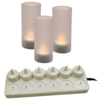 Update International CDL-12S - Rechargeable Cylindrical - LED Candle Set - 4.88