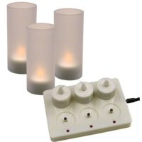 Update International CDL-6S - Rechargeable Cylindrical - LED Candle Set - 4.88