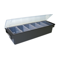 Update International CDP-4 - Polycarbonate Plastic - Four Compartment - Condiment Dispensers - 4.25