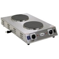Cadco - CDR2CFB - Cast Iron Double Space Saver Hot Plate - 7.5