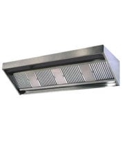 Universal LMUA-132-48D-24H - Low Profile Exhaust Hood w/ Make Up Air 132""