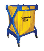Universal 275 - Continental Huskee Blue X Frame Folding Laundry Cart