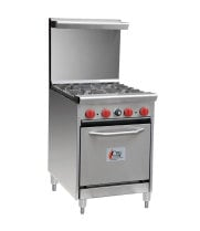 "Cooking Performance Group 24-CPGV-4B-S20 - 4 Burner Gas Range - 20"" Oven"