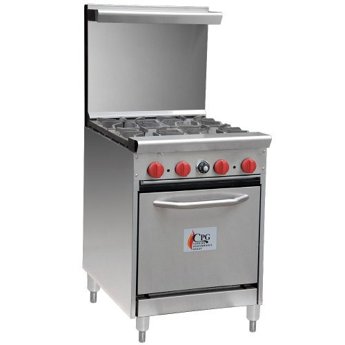 commercial gas range.  commercial cooking performance group 24cpgv4bs20  4 burner gas range and commercial a