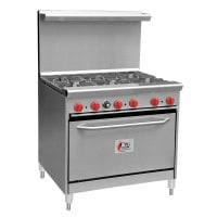 Cooking Performance Group 36-CPGV-6B-S30 - 6 Burner Gas Range - 30