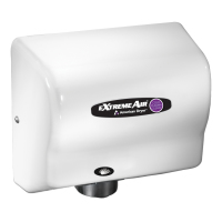 American Dryer CPC9-M - ExtremeAir Adjustable High Speed Hand Dryer w/ CPC Technology